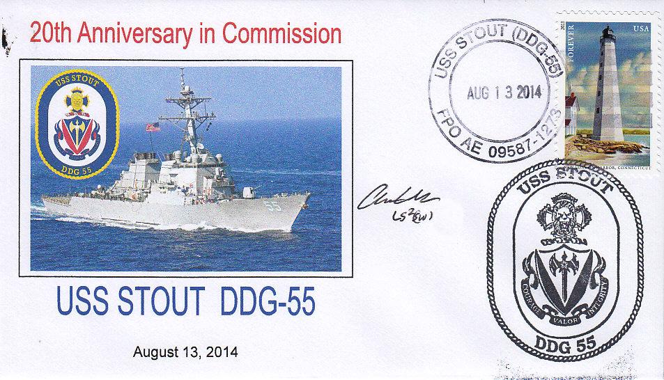 Beleg USS STOUT DDG-55 20 Jahre im Dienst