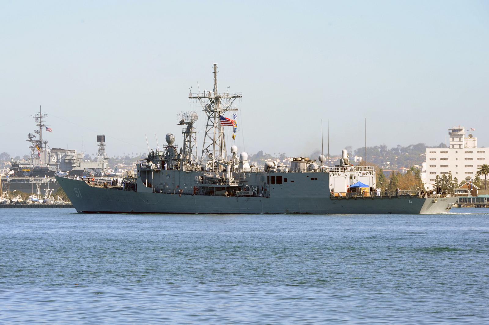 USS GARY FFG-51 Auslaufen San Diego am 24.09.2014 Bild: U.S. Navy