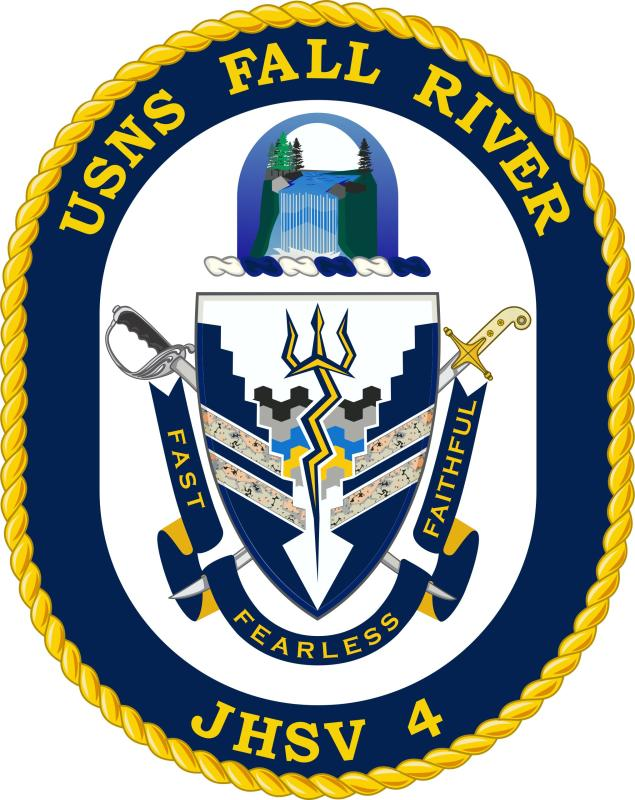USNS FALL RIVER JHSV-4 Crest Grafik: U.S. Navy