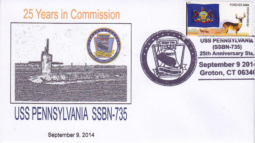 Beleg USS PENNSYLVANIA SSBN-73  25 Jahre im Dienst Groton