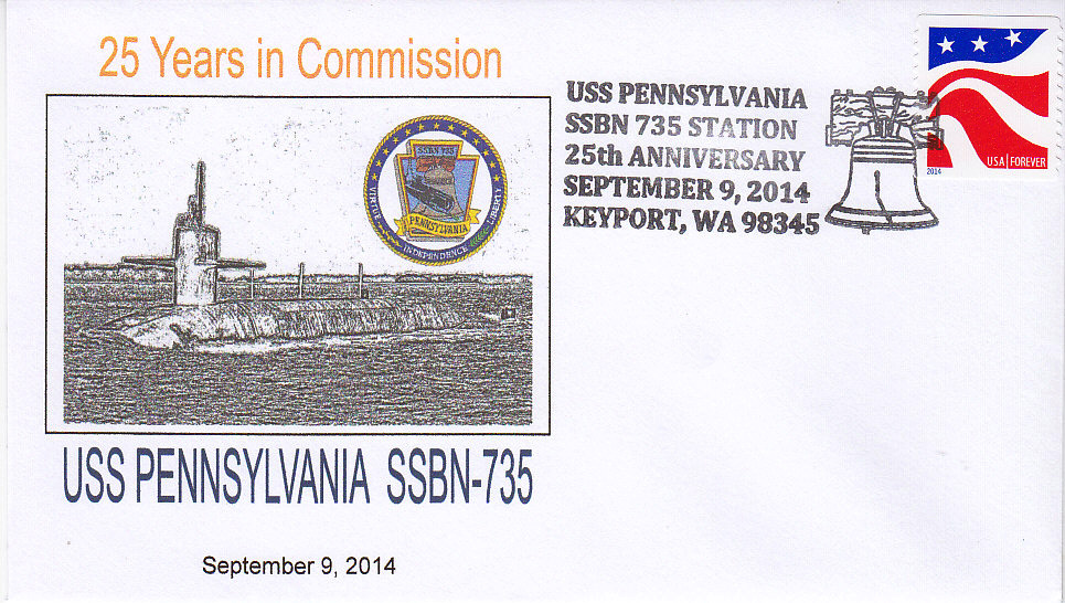 Beleg USS PENNSYLVANIA SSBN-73  25 Jahre im Dienst Keyport