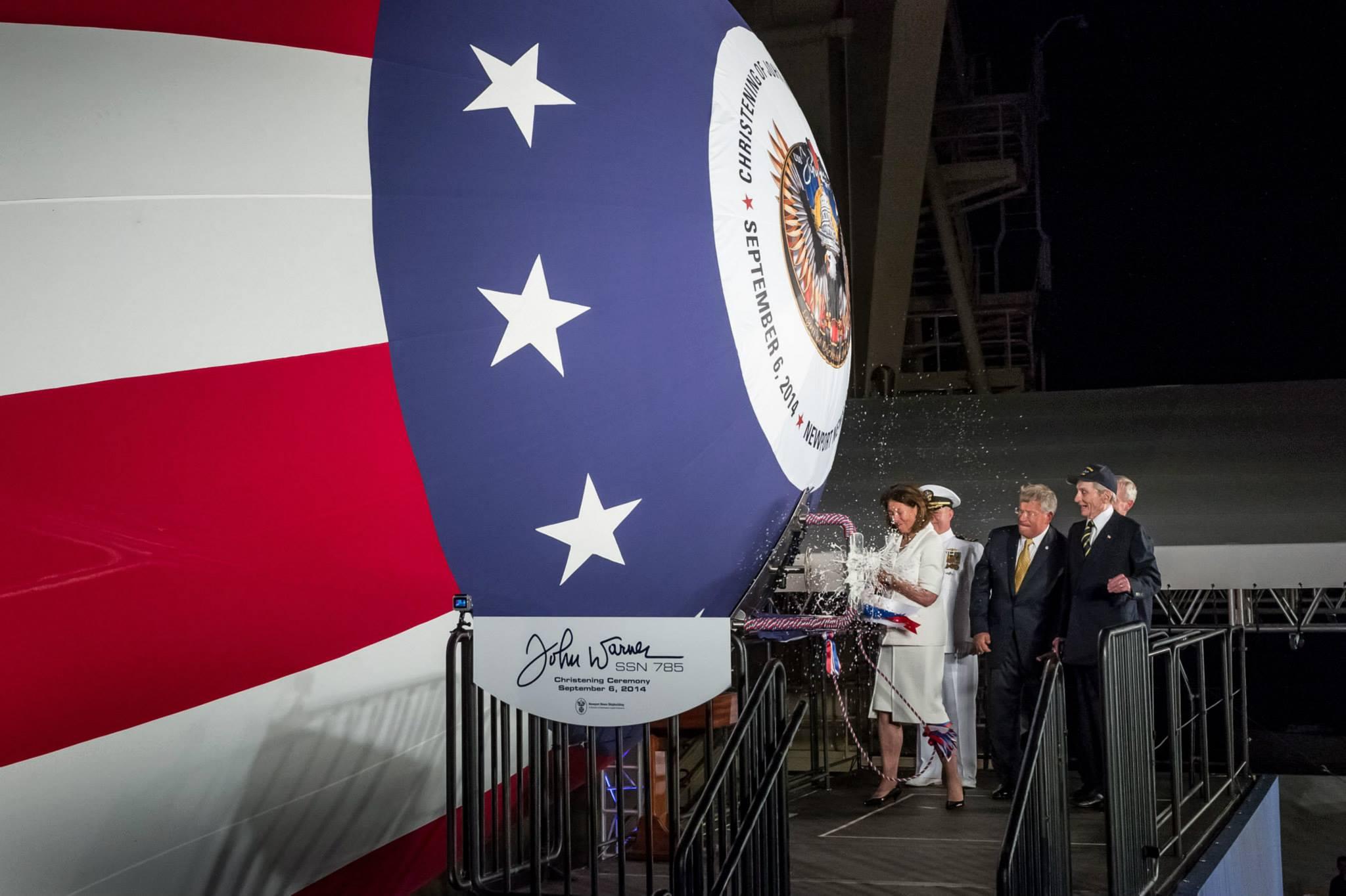 USS JOHN WARNER SSN-785 Christening Bild: Huntington Ingalls Industries