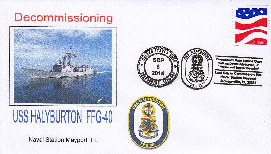 Beleg USS HALYBURTON FFG-40 Außerdienststellung