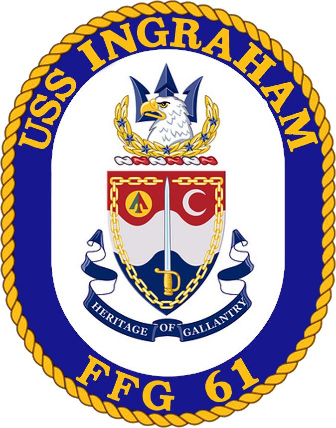 USS INGRAHAM FFG-61 Crest Grafik: U.S. Navy