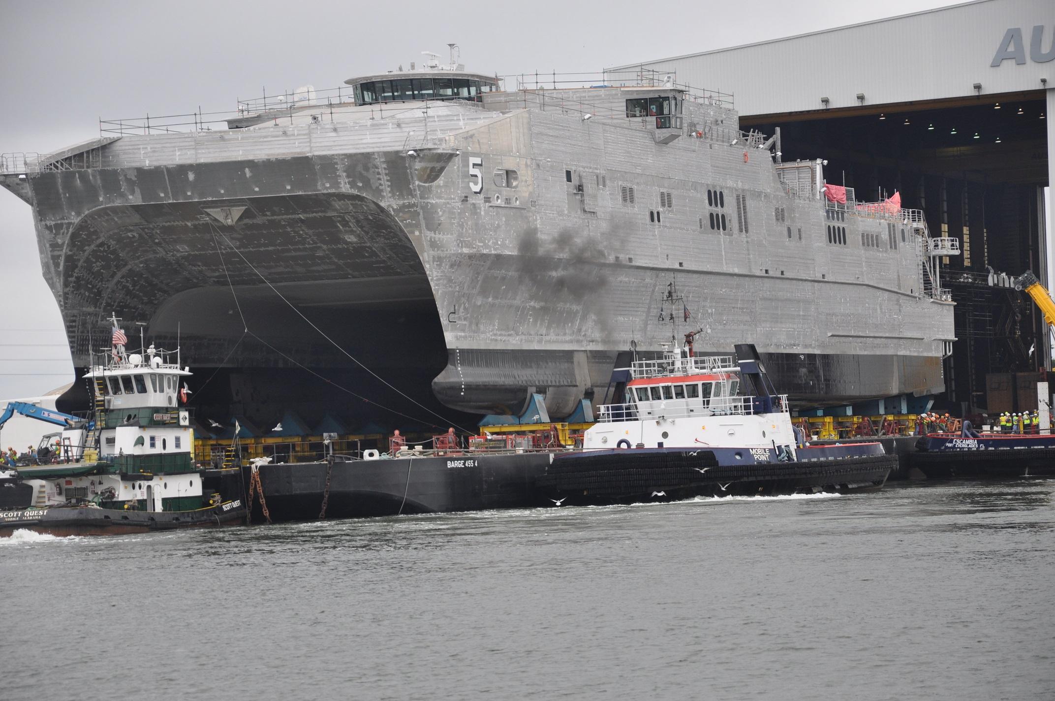 USNS TRENTON JHSV-5 am 30.09.2014 Bild: U.S. Navy