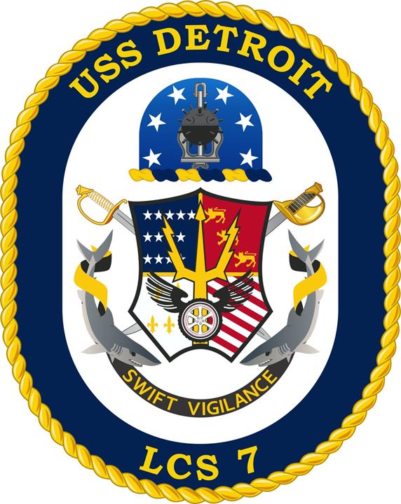 USS DETROIT LCS-7 Crest Grafik: U.S. Navy