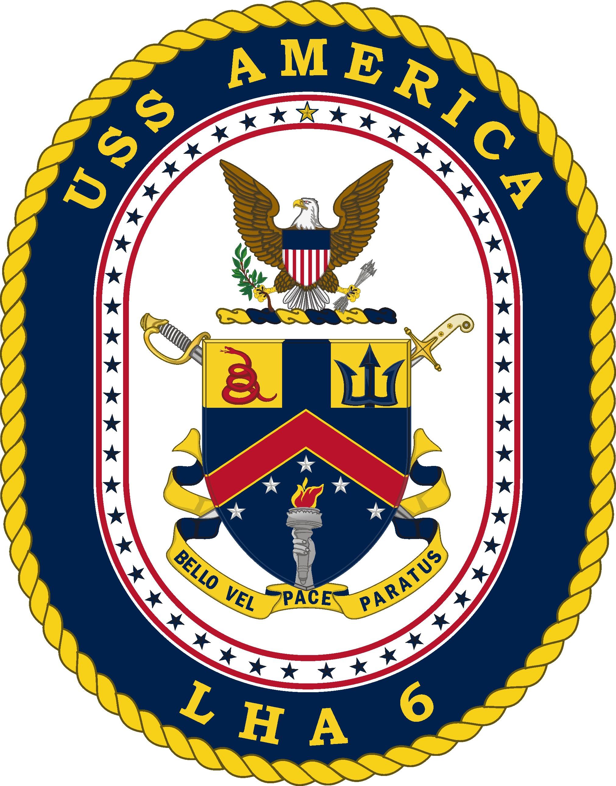 USS AMERICA LHA-6 Crest Grafik: U.S. Navy