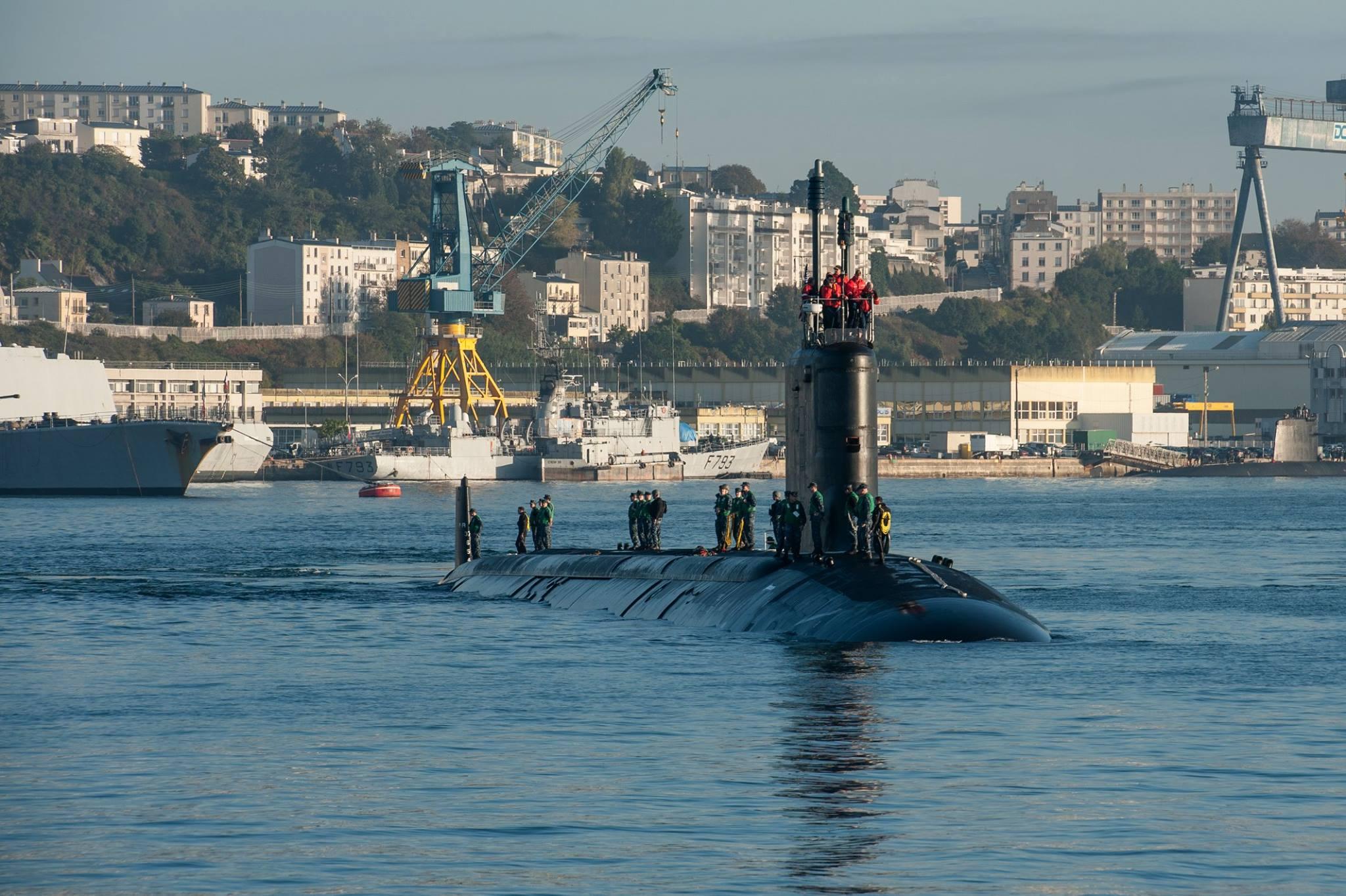 USS CALIFORNIA SSN-781 Einlaufen Brest am 14.10.2014 Bild: Marine Nationale