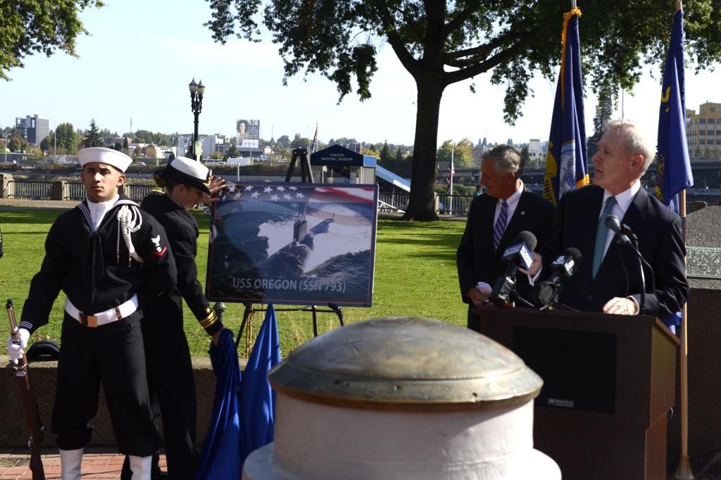 USS OREGON SSN-793 Naming Ceremony Bild: U.S. Navy