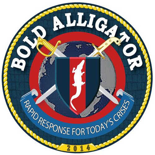 Exercise Bold Alligator 2014 Crest Grafik: U.S. Navy