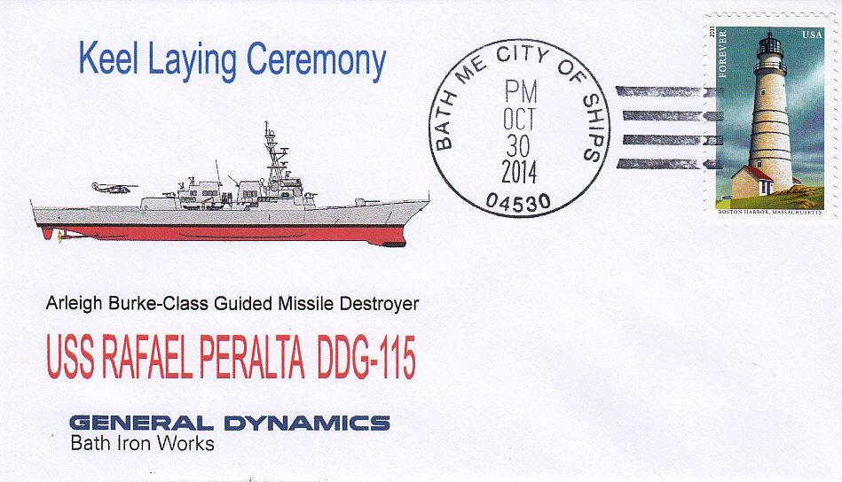 Beleg USS RAFAEL PERALTA DDG-115 Keel Laying