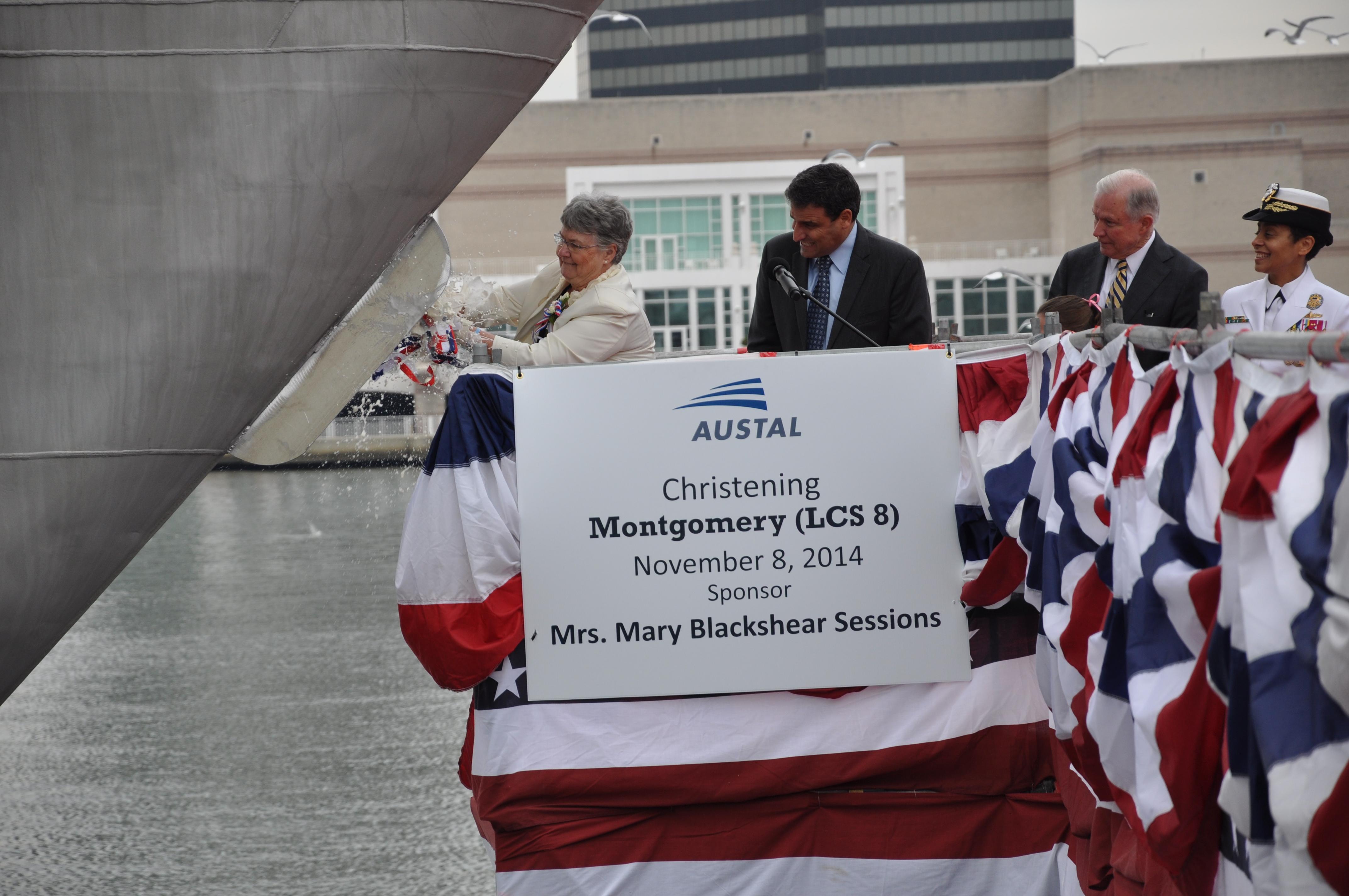 USS MONTGOMERY LCS-8 Taufe am 08.11.2014 Bild: U.S. Navy