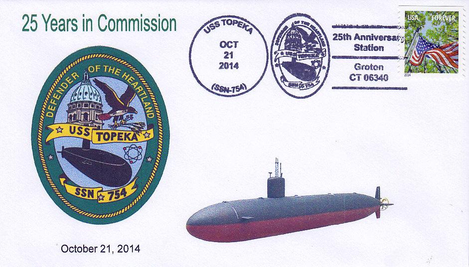 Beleg USS TOPEKA SSN-754 25 Jahre im Dienst