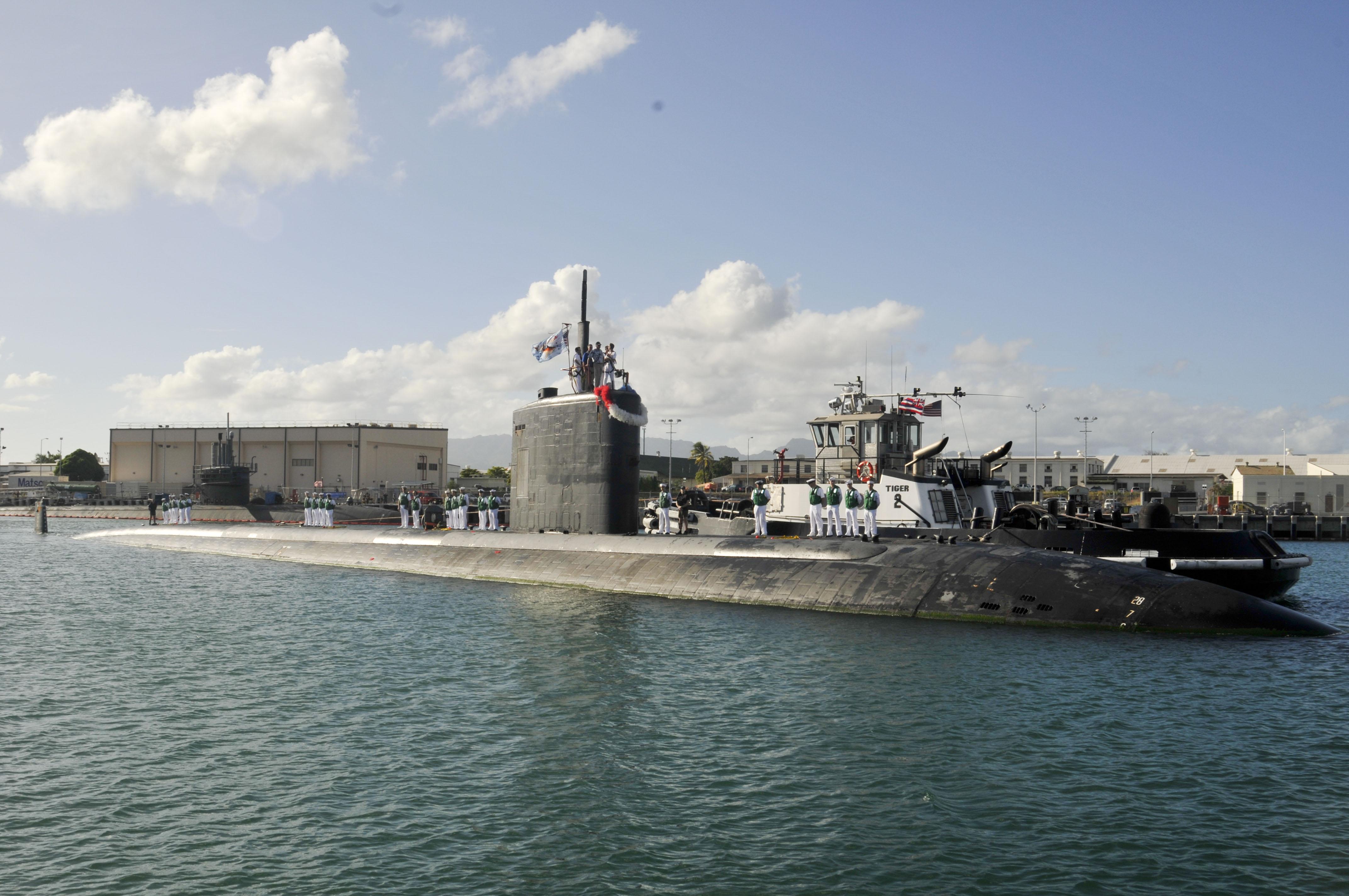 USS COLUMBIA SSN-771 Einlaufen Pearl Harbor am 21.11.2014 Bild: U.S. Navy