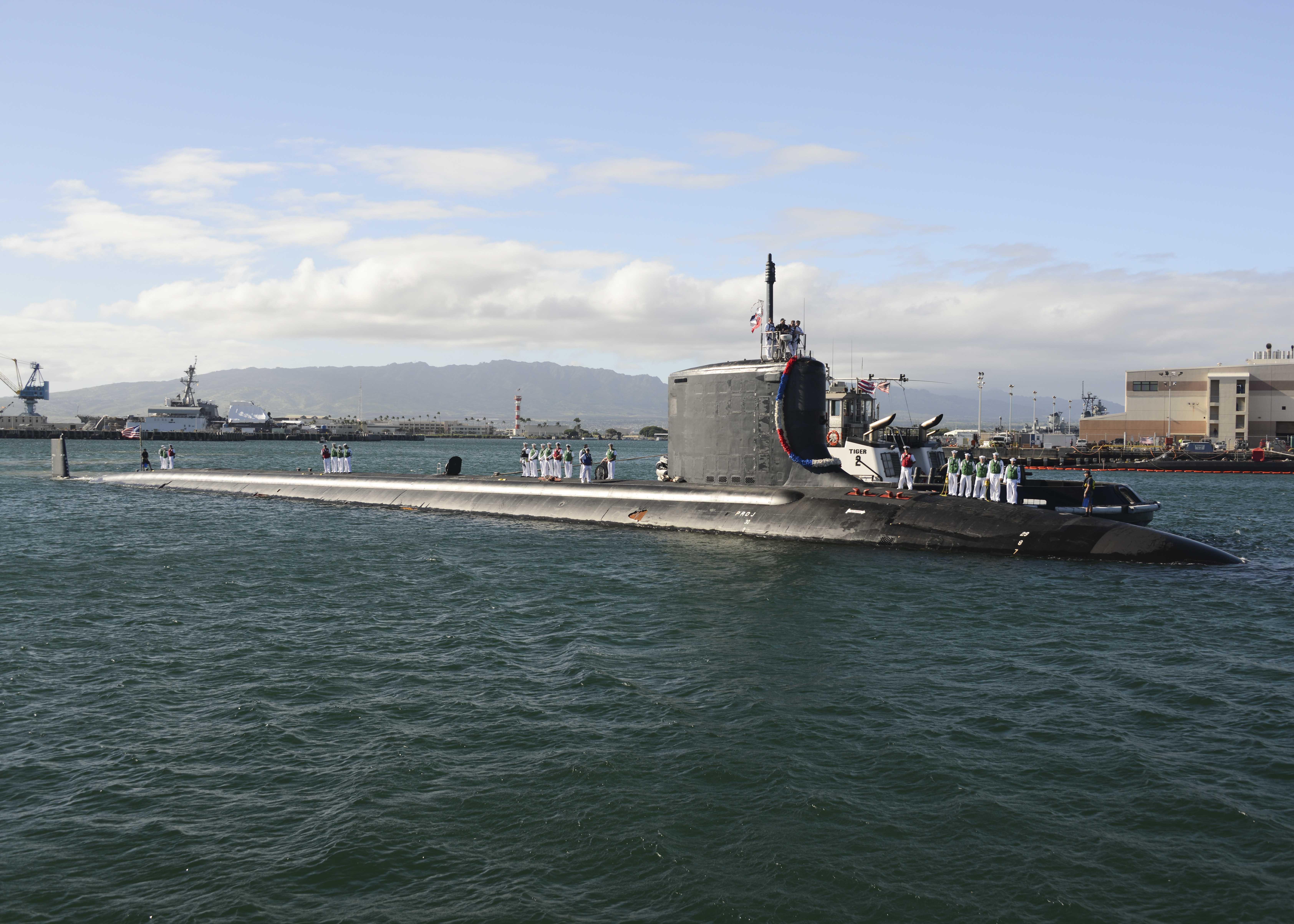 USS MISSISSIPPI SSN-782 Einlaufen Pearl Harbor am 22.11.2014 Bild: U.S. Navy