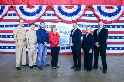 USNS BRUNSWICK JHSV-6 Keel Laying Ceremony Bild: Austal USA