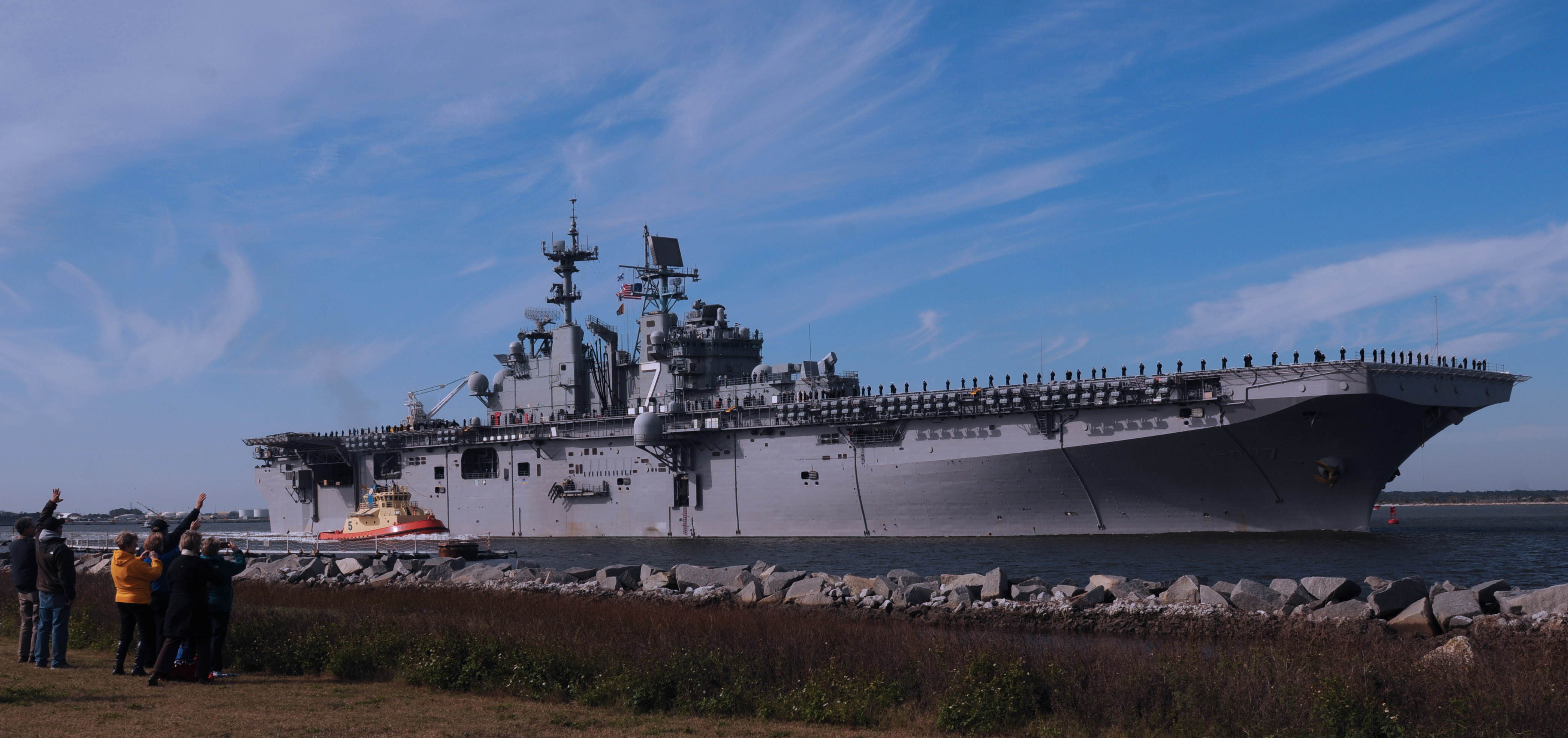 USS IWO JIMA LHD-7 Auslaufen Mayport am 11.12.2014 Bild: U.S. Navy