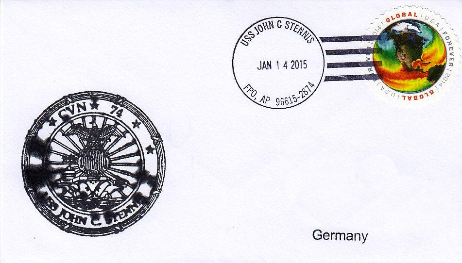Beleg USS JOHN C. STENNIS CVN-74 vom 14.01.2015