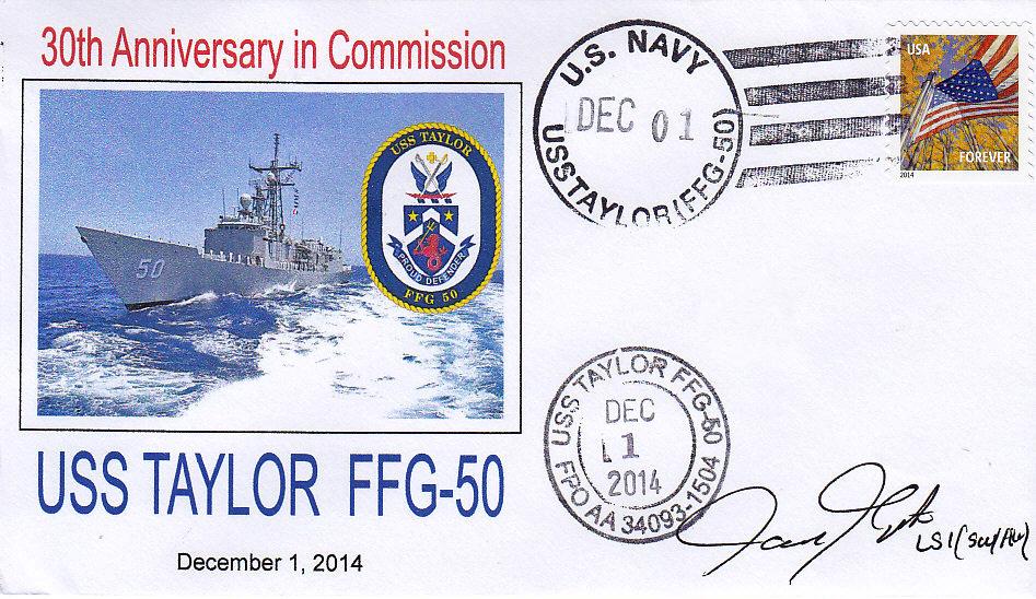 Beleg USS TAYLOR FFG-50  30 Jahre im Dienst