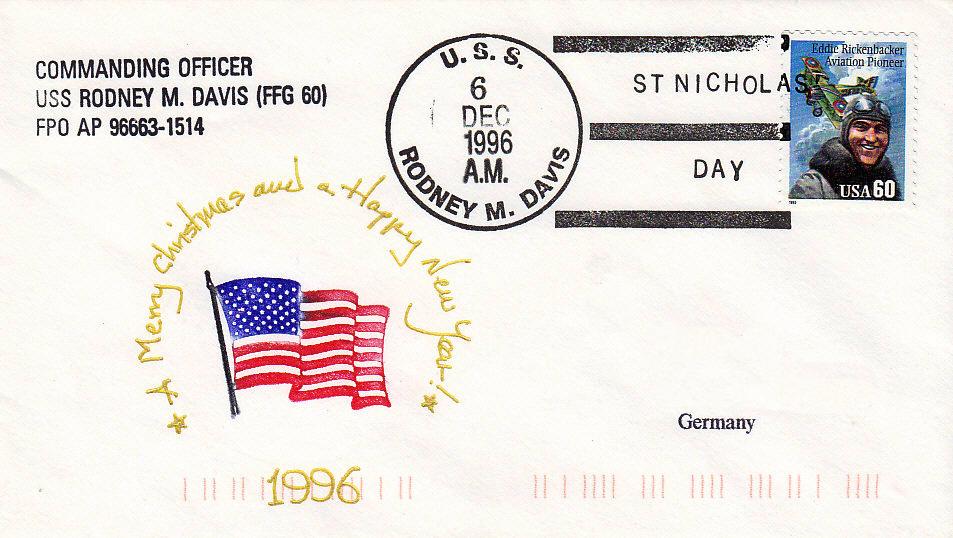 Beleg USS RODNEY M. DAVIS FFG-60 061296
