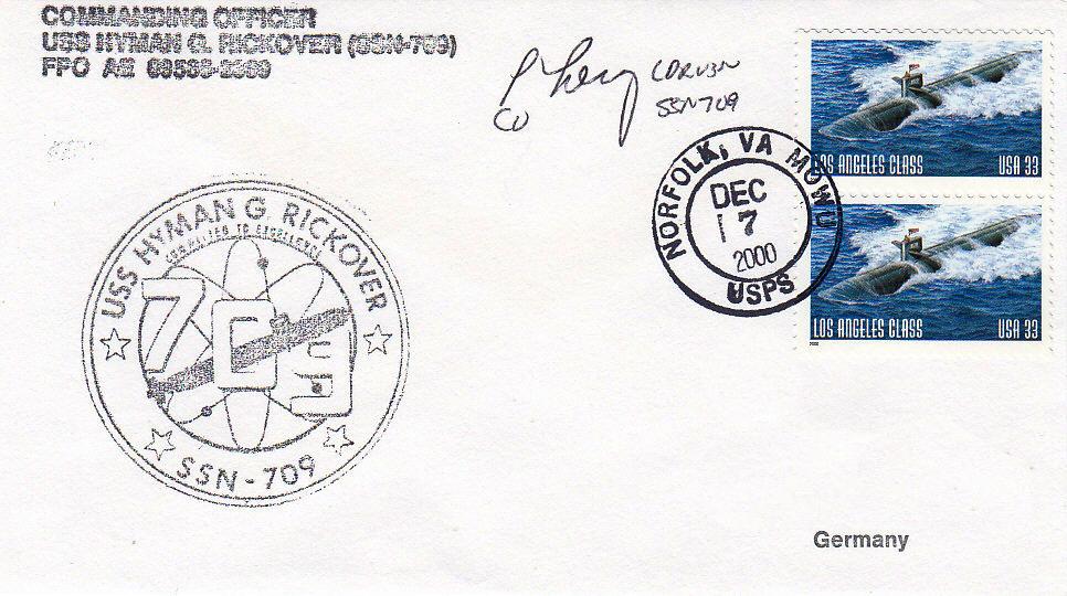 Beleg USS HYMAN G. RICKOVER SSN-709 vom 07.12.2000