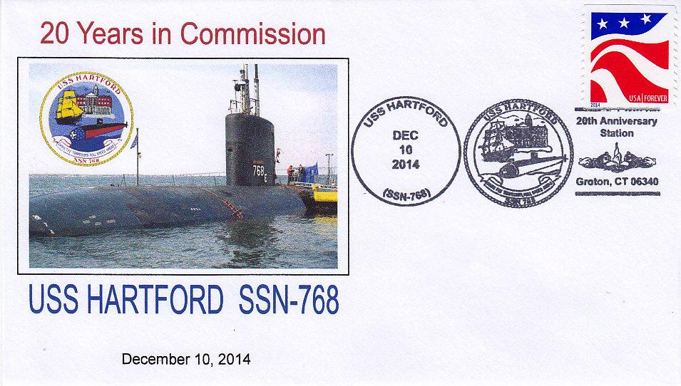 Beleg USS HARTFORD SSN-768  20 Jahre im Dienst
