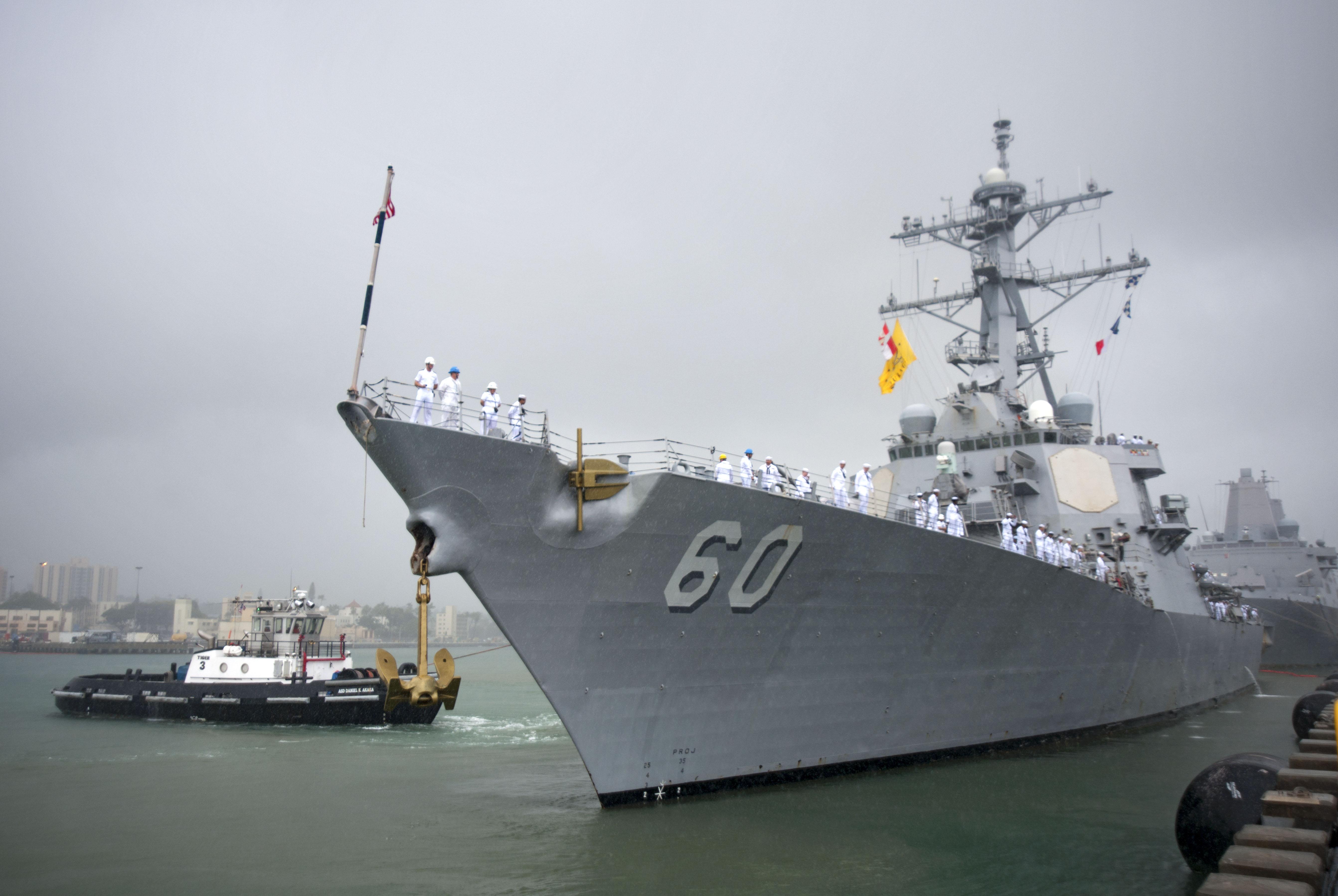 USS PAUL HAMILTON DDG-60 Auslaufen Pearl Harbor am 14.02.2015 Bild: U.S. Navy