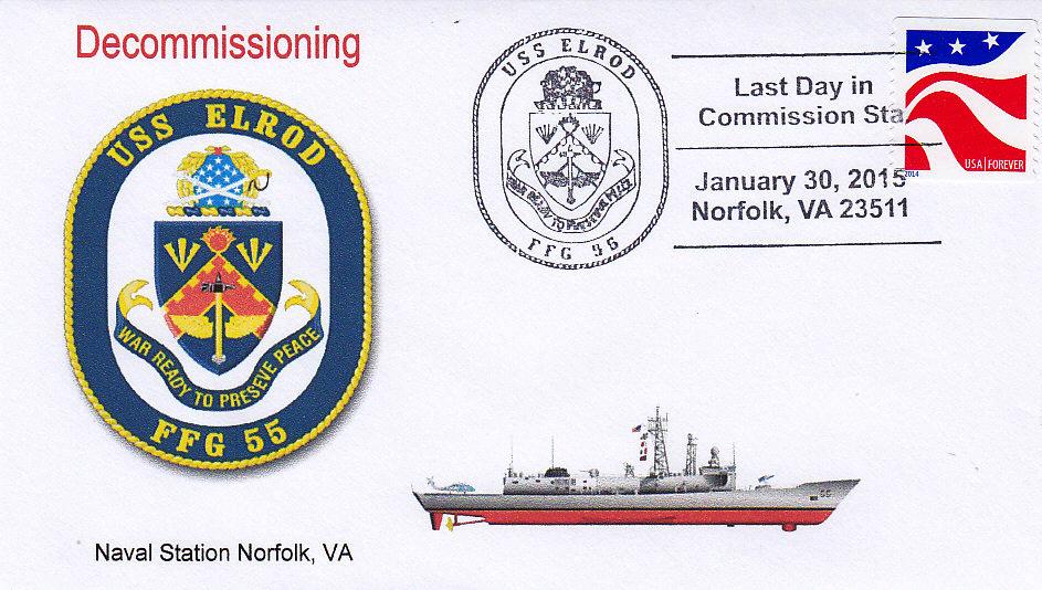 Beleg USS ELROD FFG-55 Außerdienststellung