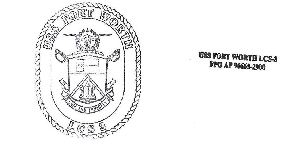 Beleg USS FORT WORTH LCS-3 von Gabriel Hartberger