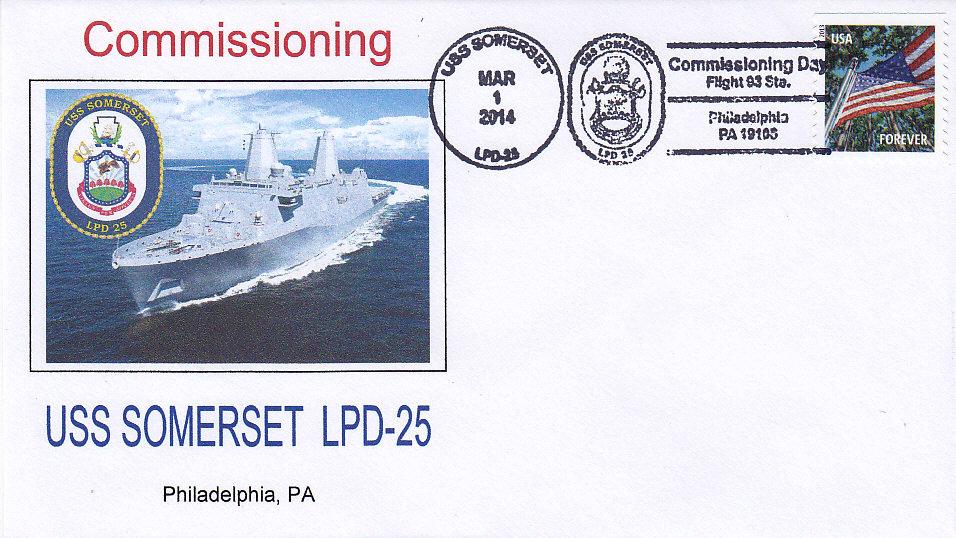 USS SOMERSET LPD-25 Indienststellung Philadelphia
