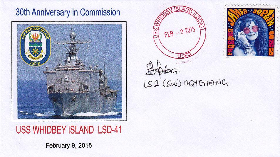 Beleg USS WHIDBEY ISLAND LSD-41  30 Jahre im Dienst
