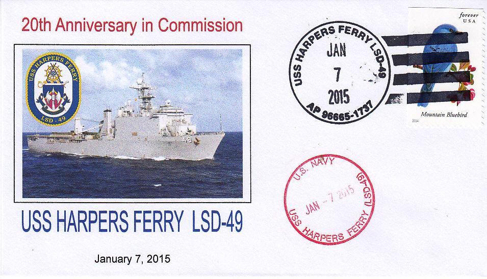 Beleg USS HARPERS FERRY LSD-49  20 Jahre im Dienst