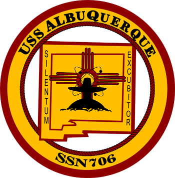 USS ALBUQUERQUE SSN-706 Crest Grafik: U.S. Navy