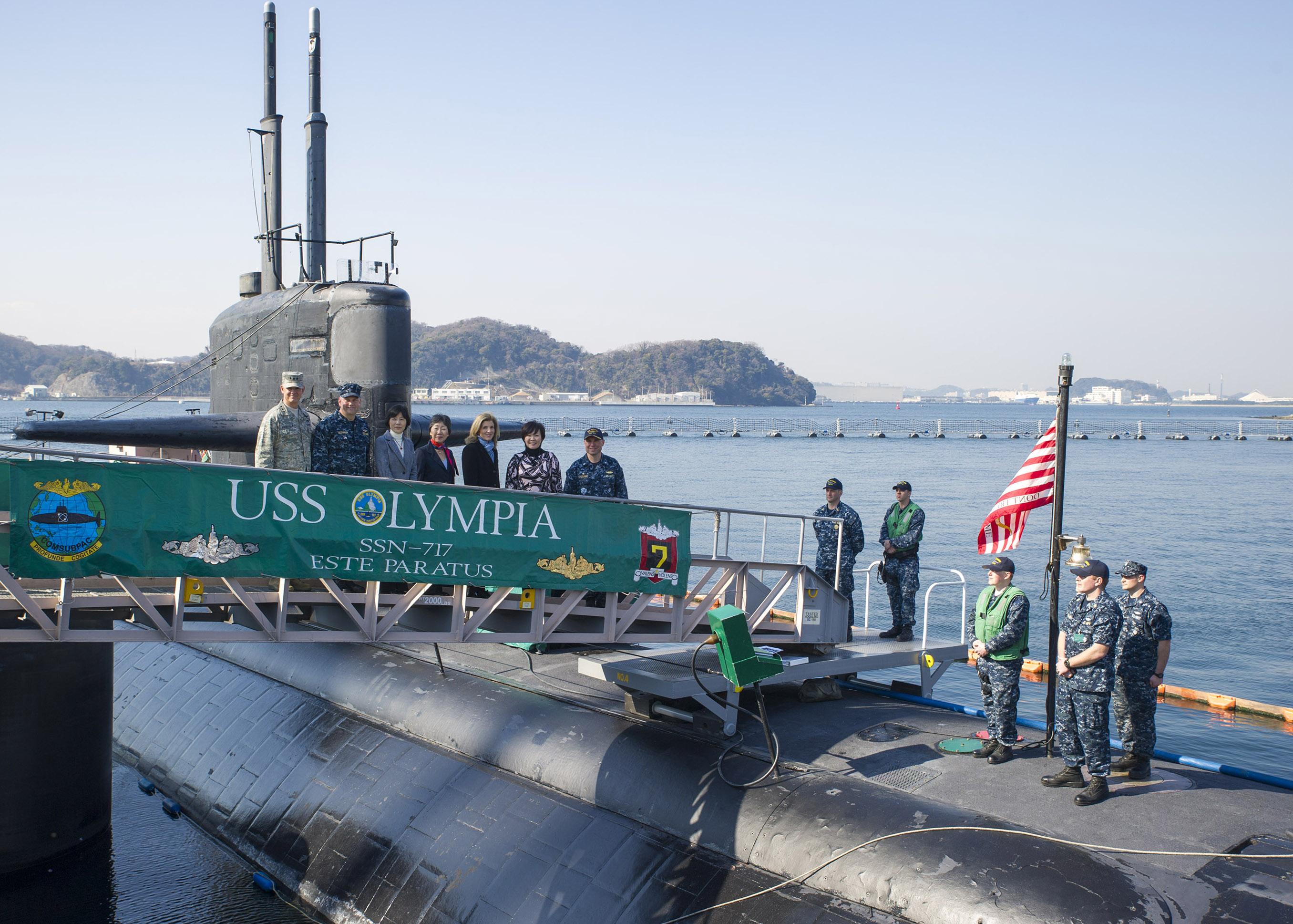 USS OLYMPIA SSN-717 in Yokosuka am 12.02.2015 Bild: U.S. Navy