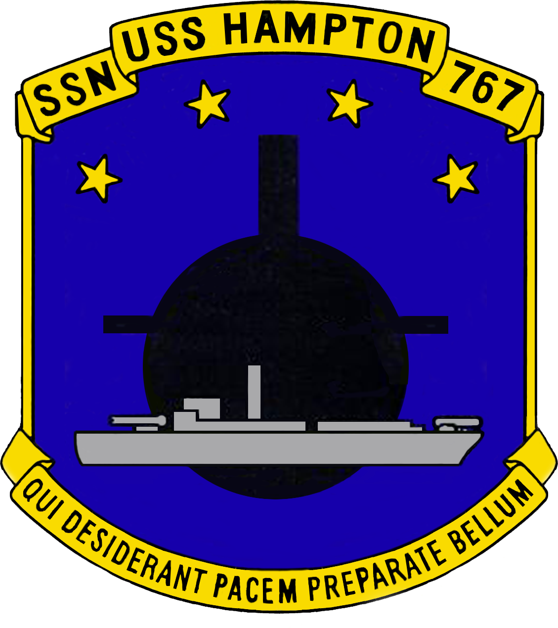 USS HAMPTON SSN-767 Crest Grafik: U.S. Navy