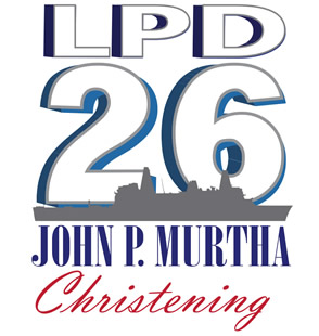 USS JOHN P. MURTHA LPD-26 Taufe-Logo Grafik: Huntington Ingalls Industries