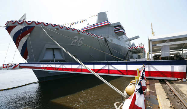 USS JOHN P. MURTHA LPD-26 Christening Bild: AP