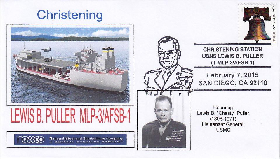 Beleg USNS LEWIS B. PULLER MLP-3 Christening