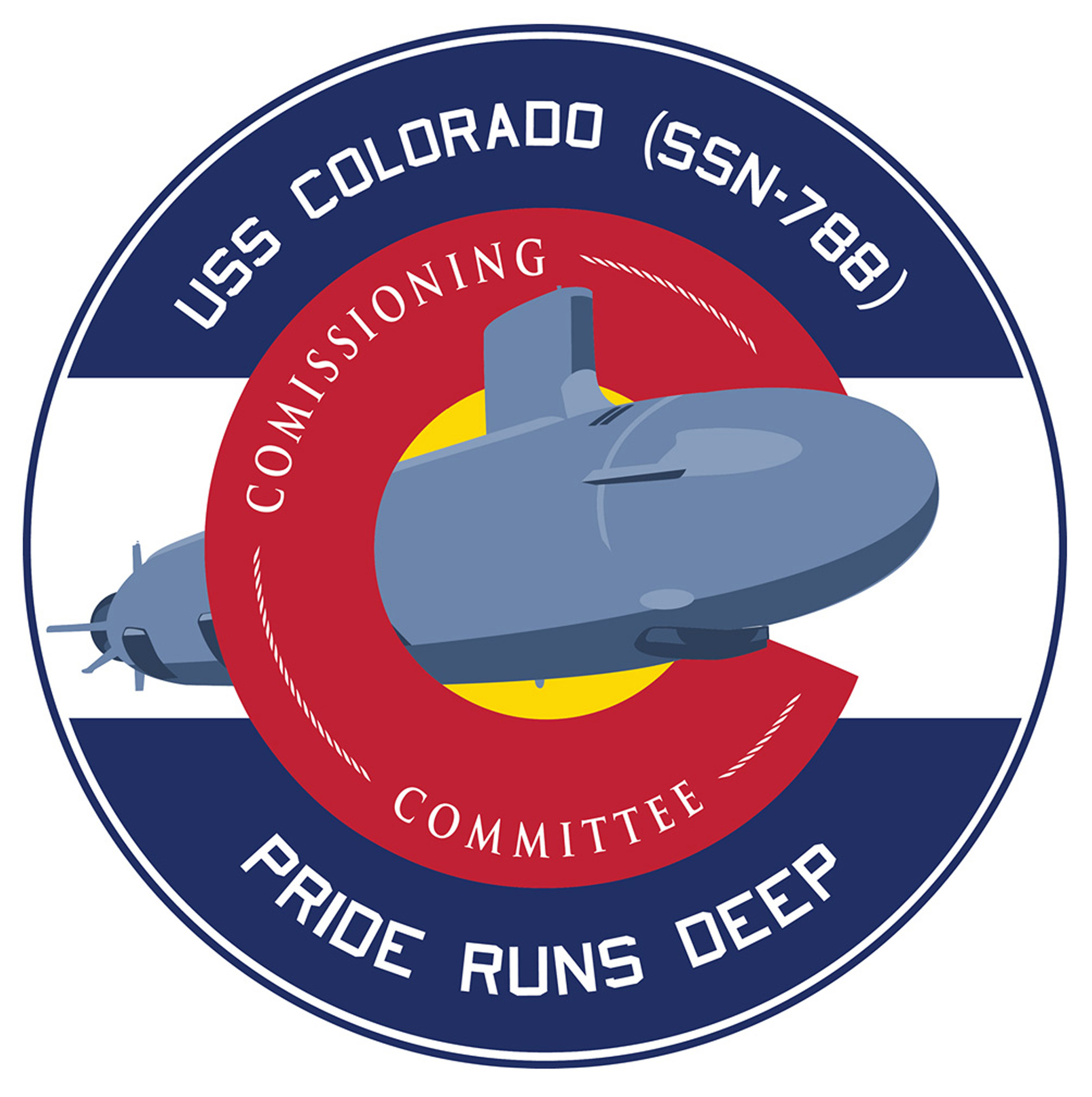 USS COLORADO SSN-788 Crest Grafik: USS COLORADO Commissioning Committee