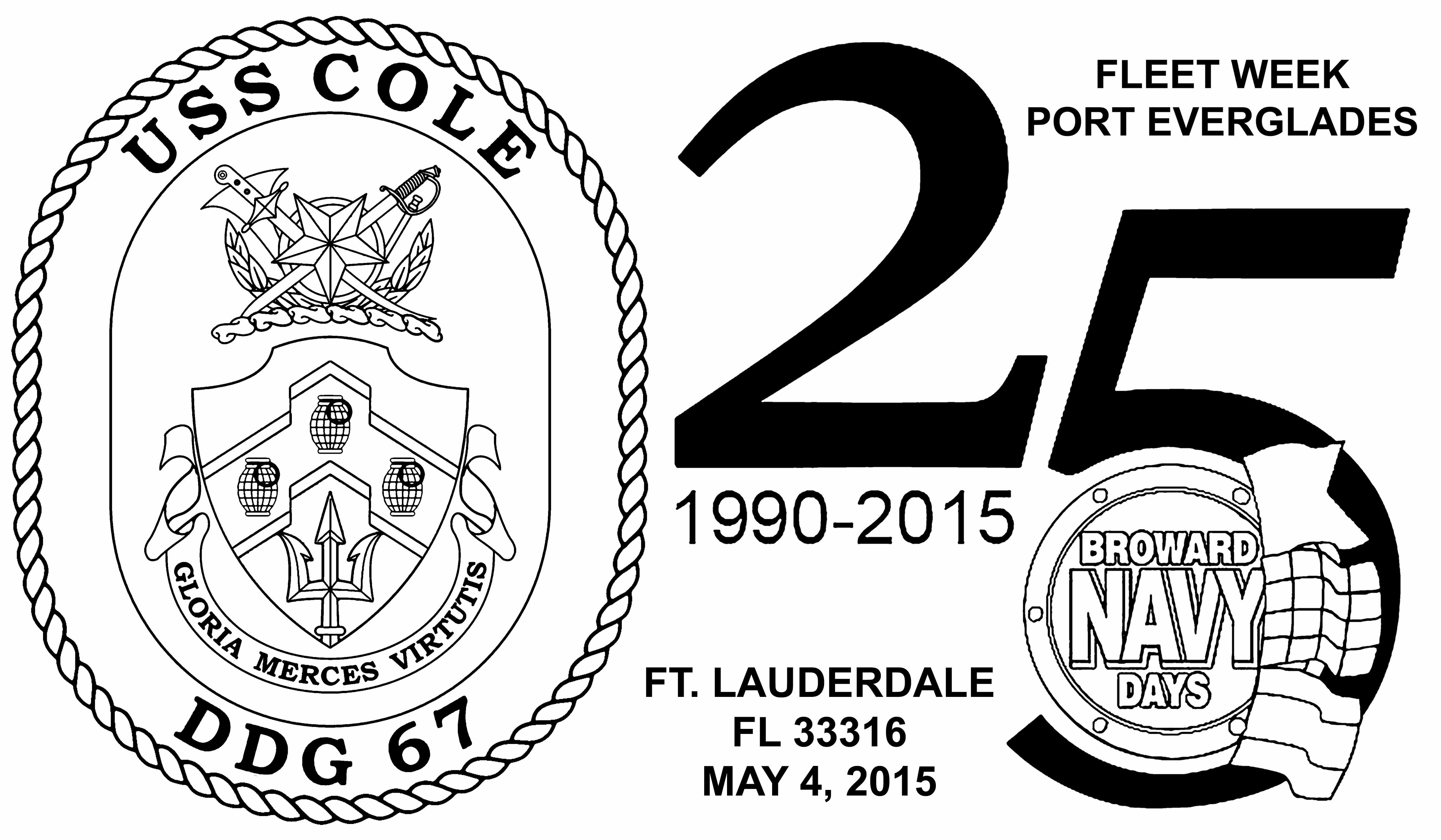 Sonderpoststempel Fleet Week Port Everglades 2015 Design: Wolfgang Hechler