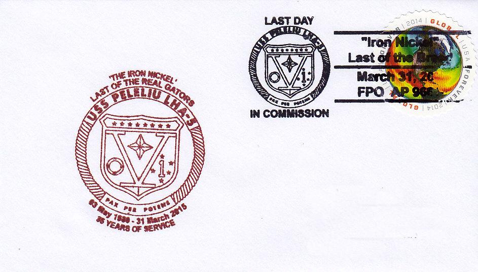Beleg USS PELELIU LHA-5 Decommissioning