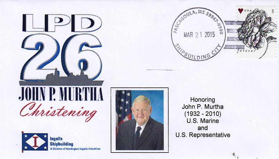 Beleg USS JOHN P. MURTHA LPD-26 Christening