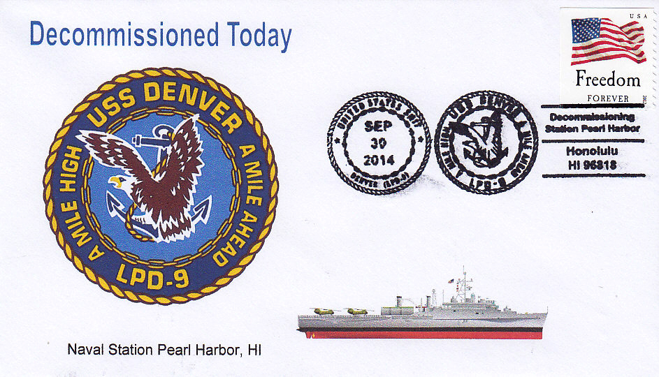 Beleg USS DENVER LPD-9 Decommissioning Honolulu
