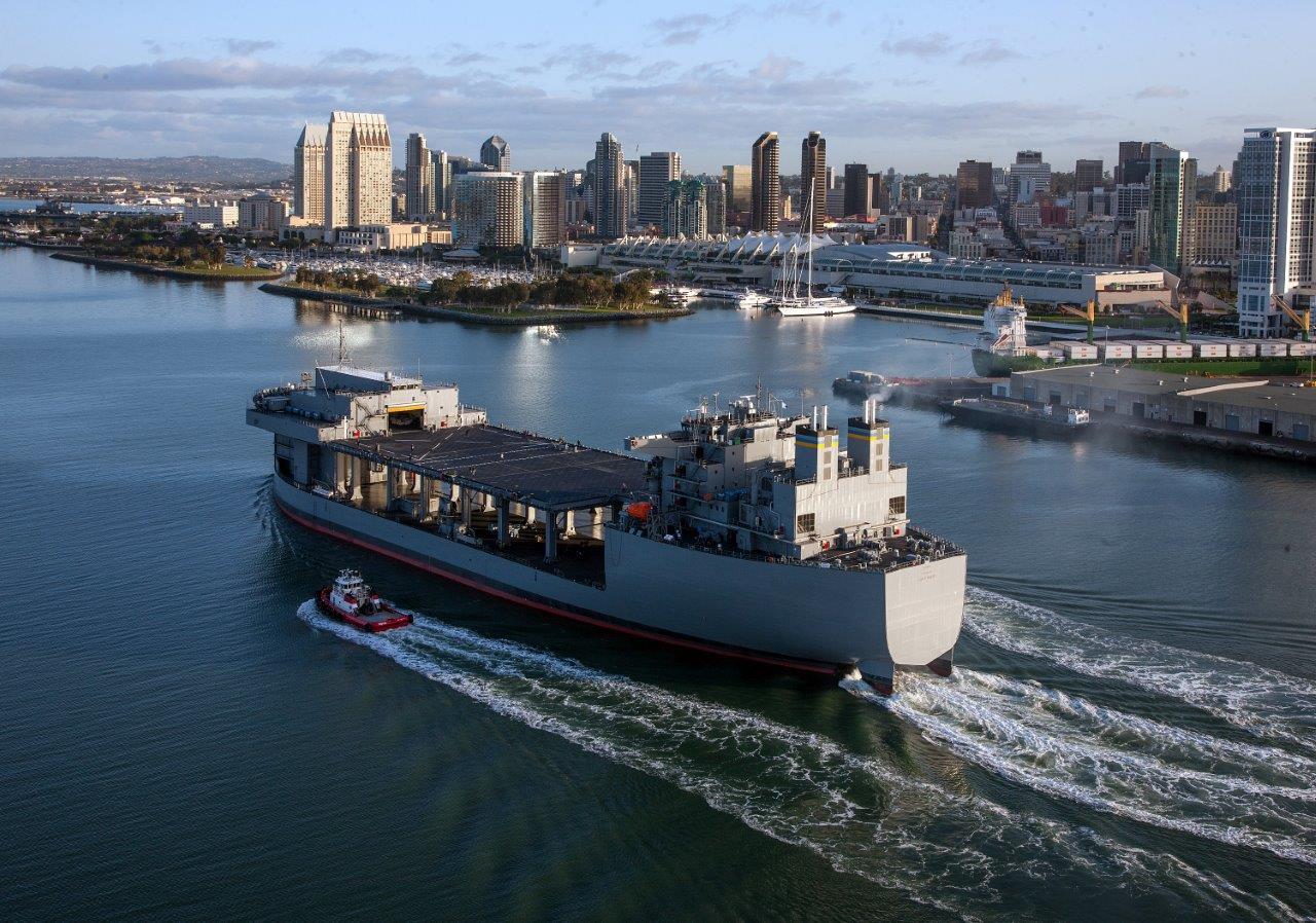 USNS LEWIS B. PULLER MLP-3 Sea Trials Bild: U.S. Navy
