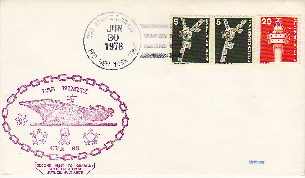 Beleg USS NIMITZ CVN-68 vom 30.06.1978