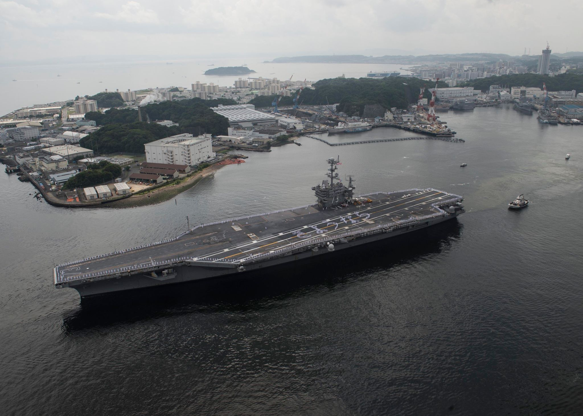 USS GEORGE WASHINGTON CVN-73 Auslaufen Yokosuka am 18.05.2015 Bild: U.S. Navy