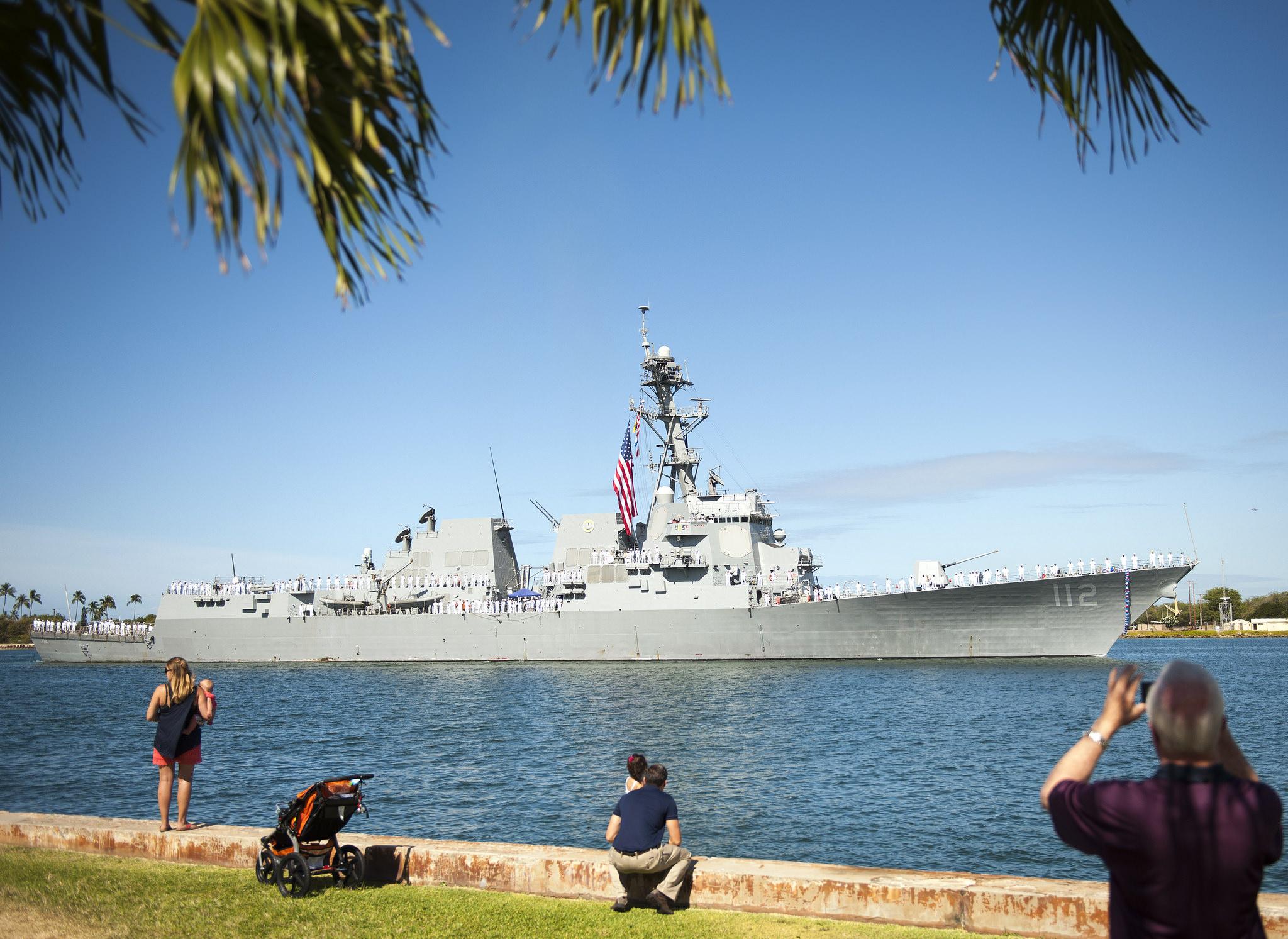 USS MICHAEL MURPHY DDG-112 Einlaufen Pearl Harbor am 21.05.2015 Bild: U.S. Navy