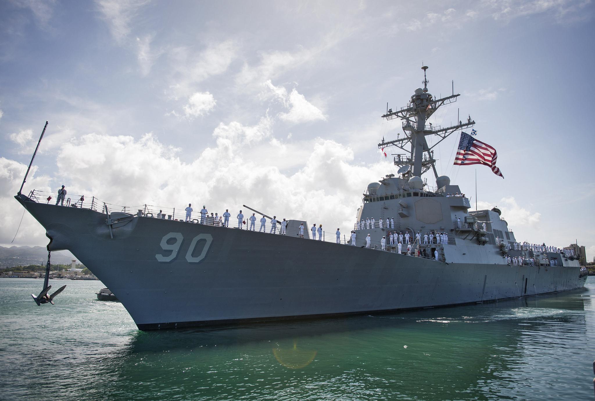 USS CHAFEE DDG-90 Auslaufen Pearl Harbor am 18.05.2015 Bild: U.S. Navy