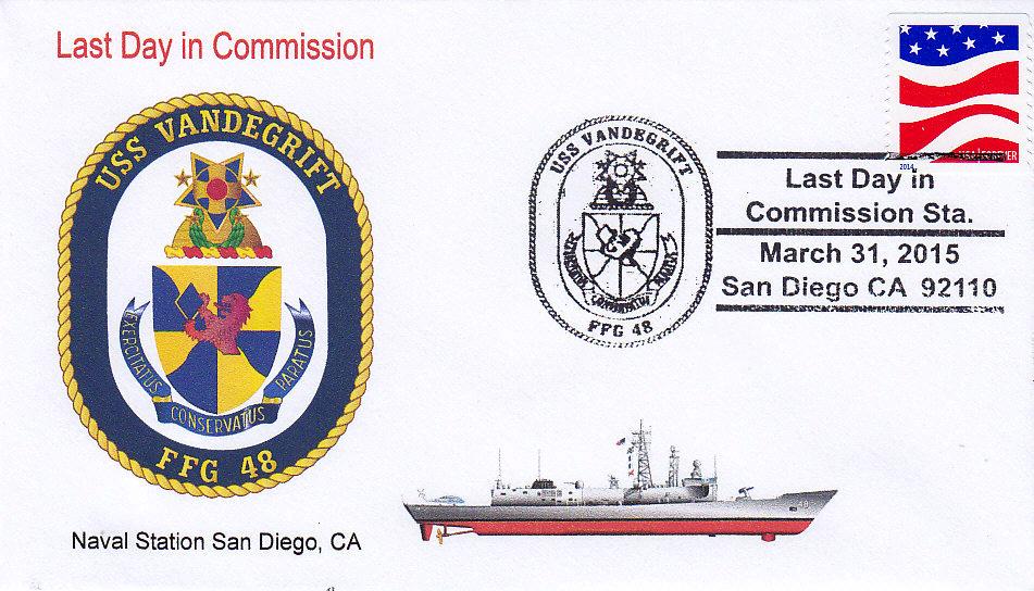 Beleg USS VANDEGRIFT FFG-48 Außerdienststellung San Diego