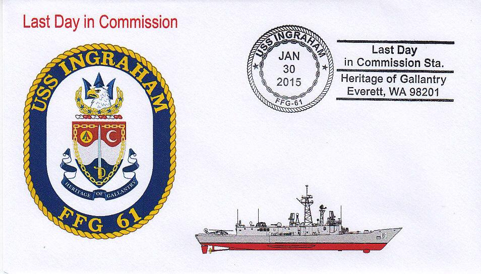 Beleg USS INGRAHAM FFG-61 Außerdienststellung Everett